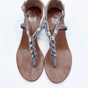 Crown Vintage Braided T-Strap Wedge Sandal